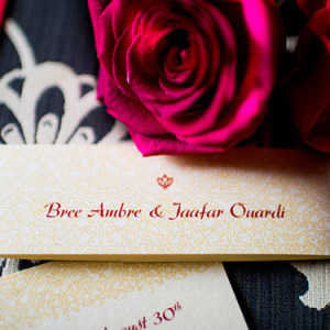 Ouardi & Speidel Wedding Invitation
